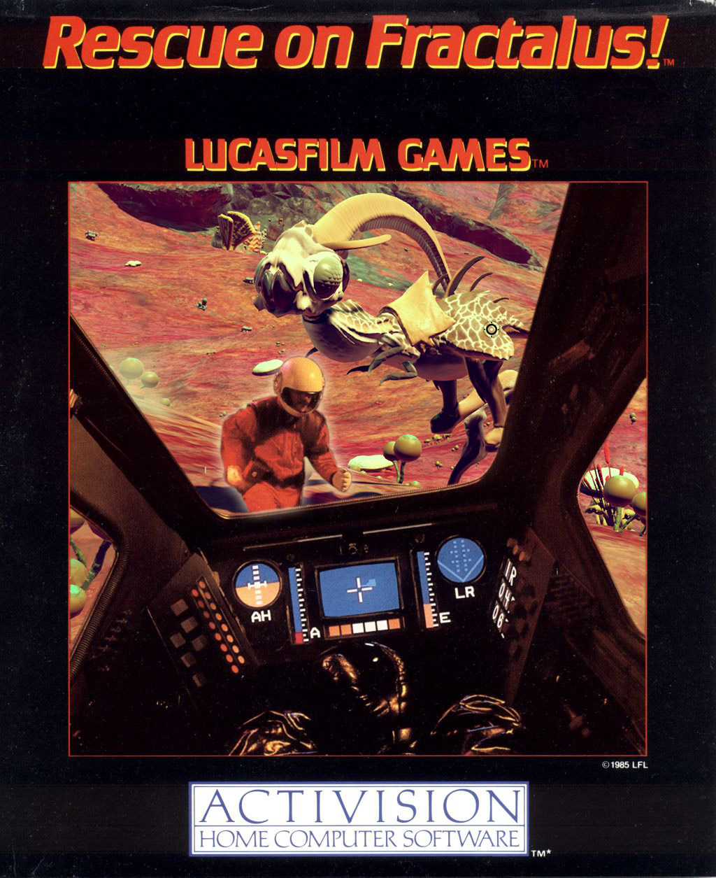 Doctored 'Rescue on Fractalus' game box cover